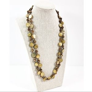 Vintage Coin pearl and glass beaded necklace